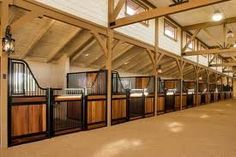 Stalls... I love the half wood/half grill stall divider. It gives the horse a place to eat with out a neighbor bothering them.