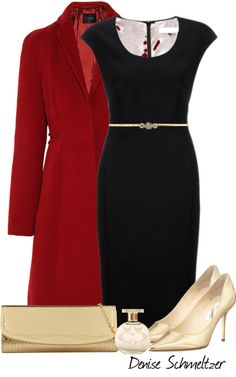 """""""Black and Gold"""" by denise-schmeltzer on Polyvore"""