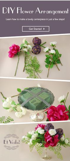 Learn how to make a flower arrangement in just a few steps!