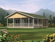 Ranch Plan: 720 Square Feet, 2 Bedrooms, 1 Bathroom - 5633-00014 *****