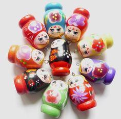 20 Anhänger Babuschka/Matroschka  4,3 cm von ♥♥ Maschenhexe's Schmuckzubehör  & Handarbeitsbedarf  ♥♥  auf DaWanda.com