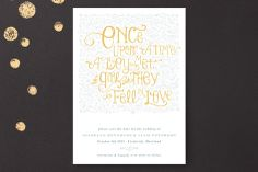 "My favorite ""save the date"" so far...Once Upon Save the Date Cards by Erin Pescetto at minted.com"