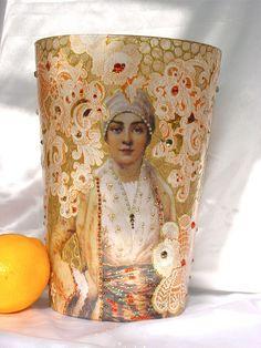 Portrait-Candle holder by Nini Violette, via Flickr