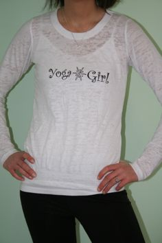 Yoga Long Sleeve Burnout Tee  Can be purchase on Etsy at belightclothing