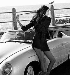 Enjoy this stylish Porsche photo collection of 60 cars with 60 beautiful girls. Choose and set up your new Porsche wallpaper :) You may also like: 7 Most Iconic Porsche Models of All Time Images) 50 Classy Alfas with 50 Classy Women (Photo Porsche Classic, Classic Cars, Porsche Girl, Porsche Sports Car, Porsche Models, Porsche Panamera, Porsche 356 Speedster, Porsche Logo, New Porsche