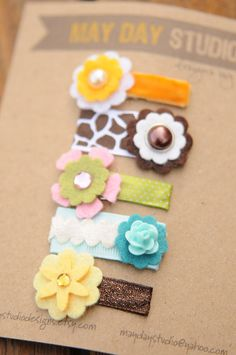 baby toddler girls snappy hair clips by maydaystudiodesigns, $11.00