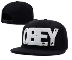 OBEY Snapback Hats White And Black 220 8129