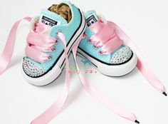 Infant Toddler Low Top Baby Girl Aqua Turquoise by shopurbanbabyco