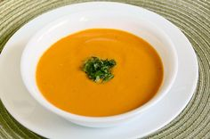 Dairy Free Cream of Tomato Soup with Basil