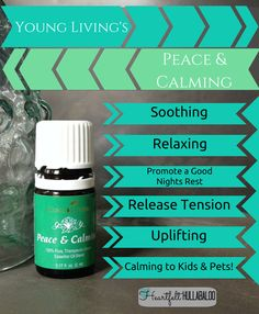 Peace & Calming is a gentle, fragrant blend. When diffused, it helps calm tensions and uplift the spirit, promoting relaxation and a deep sense of peace. When massaged on the bottoms of the feet, it can be a wonderful prelude to a peaceful night's rest. Peace & Calming may be especially calming and comforting to young children after an overactive and stressful day.