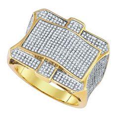 1 1/4CTW-Diamond MICRO-PAVE MENS RING