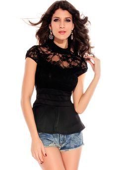 634cb4fadf2a Lace Overlay Long-sleeve Skirt Set