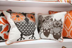 owl pillows.. would be perfect in the nursery!