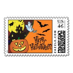Happy Halloween Postage Stamps #halloween #postage #stamps