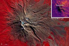 A Satellite Eye on Mount Ruapehu
