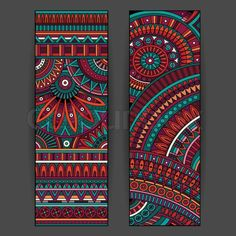 Baby Names Discover Abstract vector ethnic pattern cards set - Millions of Creative Stock Photos Vectors Videos and Music Files For Your Inspiration and Projects. Mandala Artwork, Mandala Drawing, Mandala Painting, Tribal Pattern Art, Tribal Art, Madhubani Art, Madhubani Painting, Afrique Art, Design Mandala
