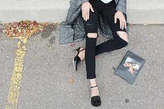 WoahStyle.com   The Free Island super skinny jeans, Givenchy Bambi pouch, Aritzia coat and Alexander Wang shoes