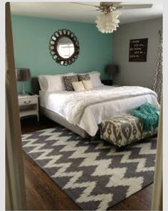Bedroom ideas- I love the simplicity, Most of all the mirror