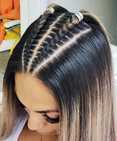 85 Box Braids Hairstyles for Black Women - Hairstyles Trends Frontal Hairstyles, Cool Braid Hairstyles, Easy Hairstyles For Long Hair, Baddie Hairstyles, Braids For Long Hair, Long Hair Cuts, Hairstyle Short, Office Hairstyles, Anime Hairstyles