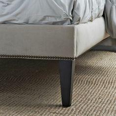 Narrow-Leg Nailhead Upholstered Bed Frame | west elm