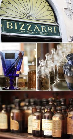 """Apothecary/Essenziale in Florence """"the place for experimental cooks. You can find essential oils of every type, herbs and extracts, as well as ingredients that are impossible to find"""""""