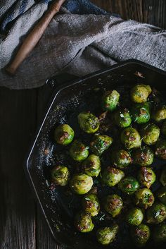 Sautéed Sherry Brussels Sprouts with Bacon, Caramelized Onions, & Fresh Thyme + A @greengiant  #WeekNightDateNight Giveaway
