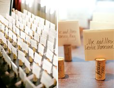 Cork board place card holder #MarieeAmi #Weddings #TiffanyHughesPhotography