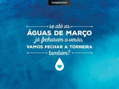 Temos um compromisso sério com o planeta. Vamos cuidar pra não faltar água pra ninguém? Obrigada, de nada. ;)
