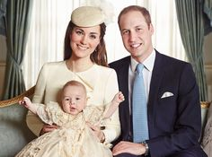 Prince George Christening: Official Portraits Revealed! These are beautiful family pics and their baby is so cute.