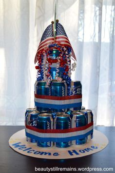Welcome Home Beer Cake perfect for my man, he does't really like cake and he loves bud light!!!