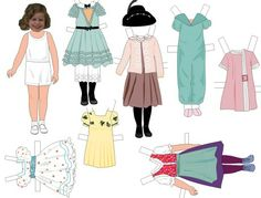 Paper Doll Template | ... travel and the clothes stay on the dolls better than any paper dolls