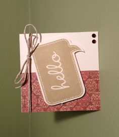Hello 3x3 card using CTMH Clementine paper