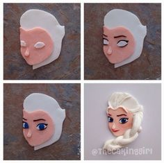 Elsa Cupcake Topper Tutorial by TheCakingGirl.