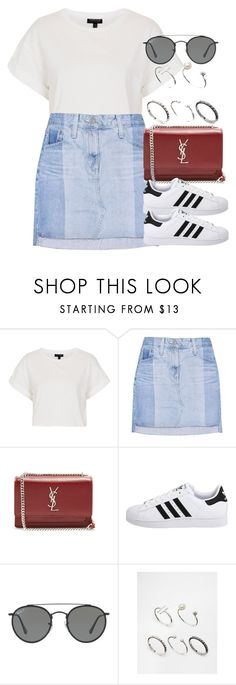 """Sin título #12985"" by vany-alvarado ❤ liked on Polyvore featuring Topshop, AG Adriano Goldschmied, Yves Saint Laurent, adidas Originals, Ray-Ban and ASOS"