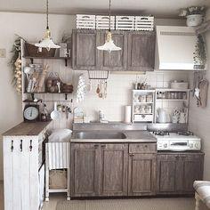 Kitchen/DIY/賃貸/ミルクガラスシェード/キッチン扉リメイク/セルフリノベーションのインテリア実例 - 2014-10-08 01:43:33