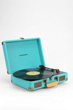 Crosley Cruiser Record Player UK Plug in Dark Turquoise