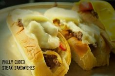Hunk of Meat Monday: Philly Cubed Steak Sandwiches - Beyer Beware