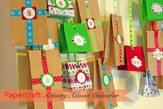 Christmas craft advent calendar for toddlers/preschool