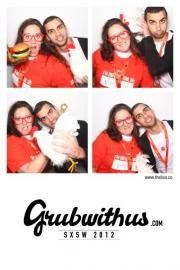 @Grubwithus photobooth at #KloutKrib