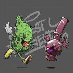 Besties, Tag a smoker you love ♥️  ♥️    Arte Do Hip Hop, Weed Wallpaper, Weed Stickers, Dope Cartoons, Marijuana Art, Stoner Art, Weed Art, Desenho Tattoo, Illustration