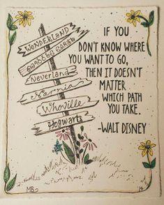 PRINT Disney Quote Deco Art Ink Illustration Alice In Wonderland Middle Earth Neverland Narnia Whoville and Hogwarts Sign Citation Walt Disney, Walt Disney Quotes, Cute Disney Quotes, Disney Sayings, Disney Quote Tattoos, Disney Poems, Disney Quotes To Live By, Tattoo Disney, Disney Disney