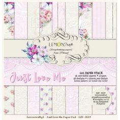 LemonCraft - Just Love Me - 6 x 6 Paper Pad - The Rubber Buggy