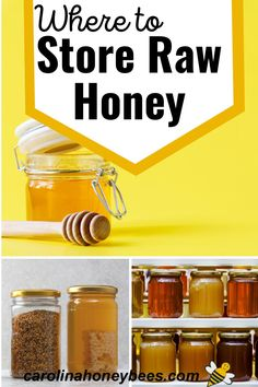 Learn how to store honey and preserve its flavor and consistency. Proper storage can also keep it from crystallizing - these storage tips are sure to help. #carolinahoneybees
