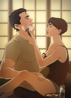 Bruce and Selina - art by batemeuma