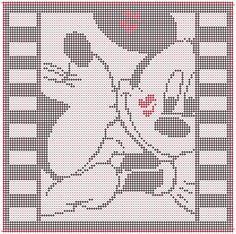 Alpha friendship bracelet pattern added by cendrillon. Mickey And Minnie Kissing, Disney Mickey, Alpha Patterns, Friendship Bracelet Patterns, Perler Beads, Pixel Art, Cross Stitch Patterns, Blankets, Elephant