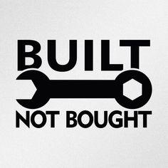 Built Not Bought JDM Car Body Window Bumper Vinyl Decal Sticker #Oracal