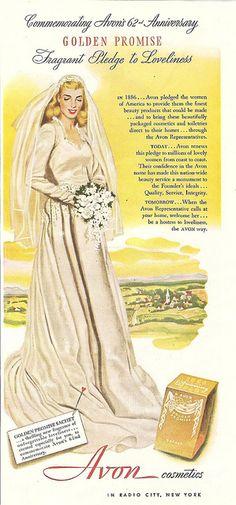 1948 avon cosmetics magazine ad by CapricornOneVintage, via Flickr