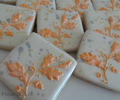 Shimmery Fall Splatter Cookies, by Flour De Lis