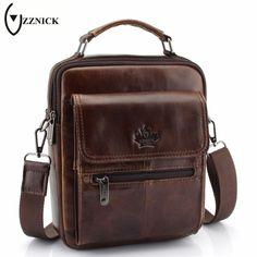 ZZNICK 2018 New Genuine Leather Bag Men Crossbody Bags Fashion Men s Messenger  leather Shoulder Bags Handbags 5feb201429189