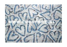 TITLE: DEEP BLUE LOVE 2007  SIZE : 140X100  MATERIAL : MIXED MEDIA ON CANVAS